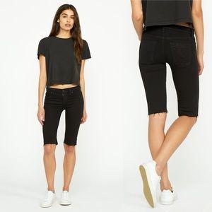New Hudson Jeans Amelia Shorts Black Size 24